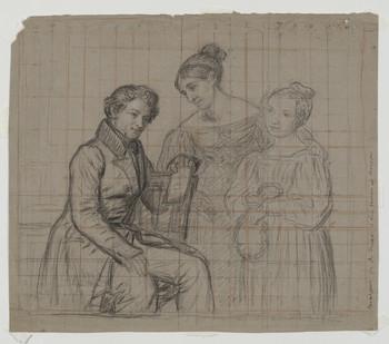 Bildnis des Karl Benninghaus mit seiner Familie