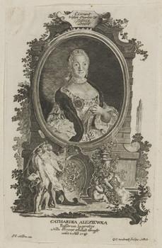 Bildnis der Catharina Alexiewna, Kaiserin von Russland
