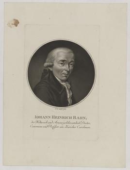 Bildnis des Iohann Heinrich Rahn