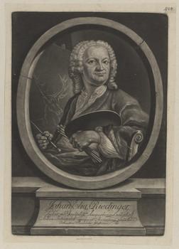 Bildnis des Johan Elias Riedinger