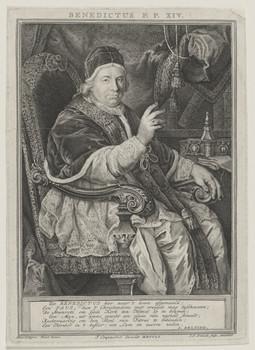 Bildnis des Papst Benedikt XIV. (Prospero Lambertini)