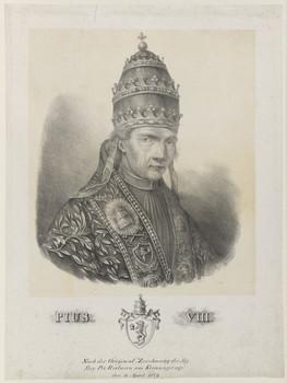 Bildnis des Papst Pius VIII.