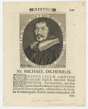 Bildnis des Io. Michael Dilherrus