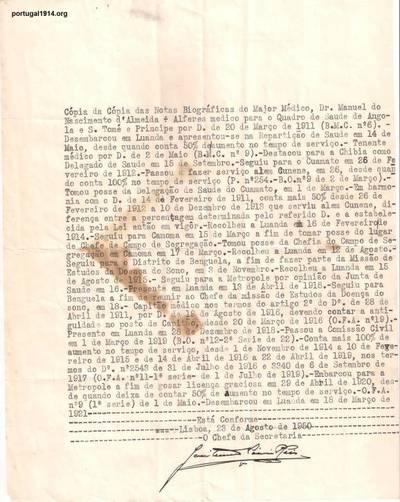Memória biográfica de Manuel Nascimento de Almeida