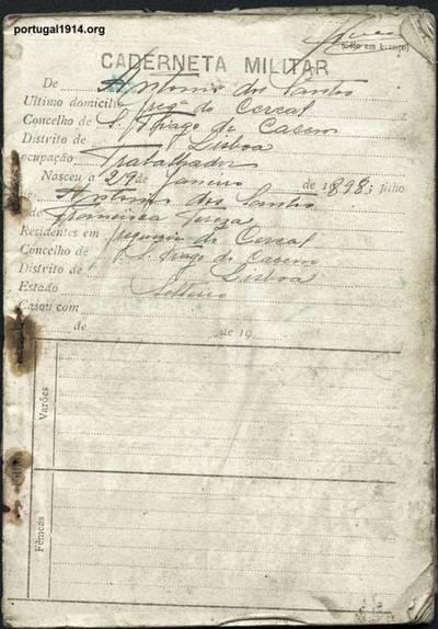 Liga dos Combatentes - caderneta nº 5