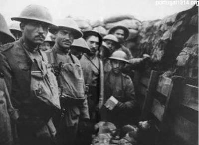 Soldados na Frente portuguesa, c. 1917-1918