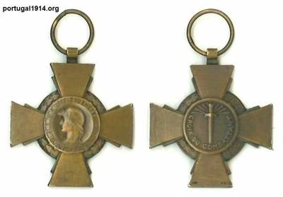 Medalha Croix du Combatant de José Bernardino