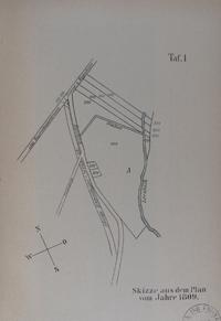 Skizze aus dem Plan vom Jahre 1809