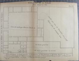 Cimetière de la Villette : Plan dressé en 1780