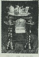 Silver Vessels, pointer, and candlesticks