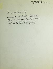 Notes et documents concernant la famille Cerfberr