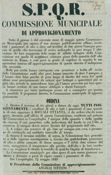 S.P.Q.R. Commissione municipale di approvigionamento