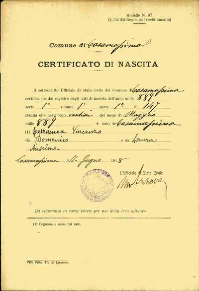 Terramea Vincenzo, Casamassima (Bari)