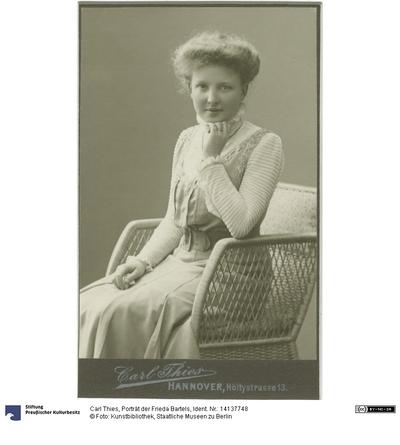 Porträt der Frieda Bartels