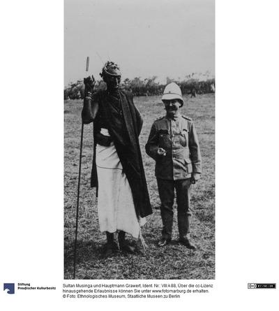 Sultan Musinga und Hauptmann Grawert