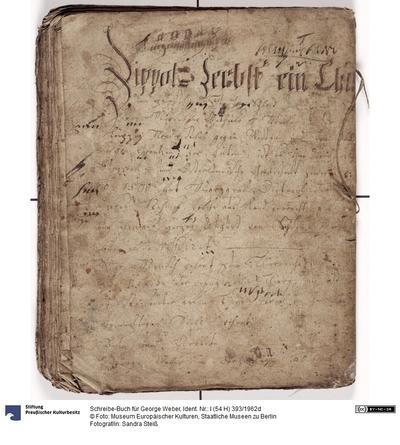 Schreibe-Buch für George Weber