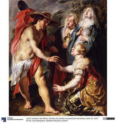 Christus als Gärtner erscheint den drei Marien
