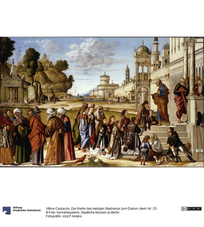 Die Weihe des heiligen Stephanus zum Diakon