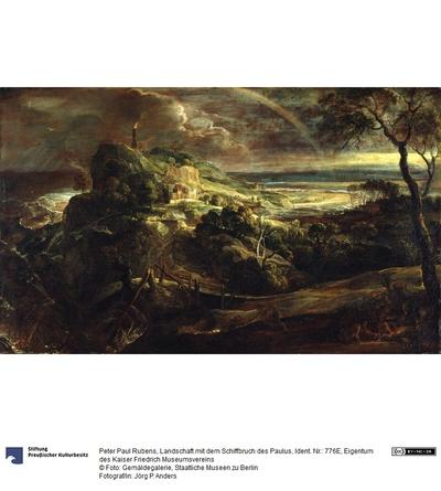 Landschaft mit dem Schiffbruch des Paulus
