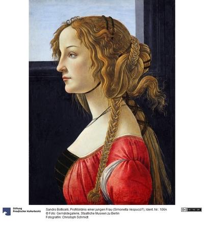 Profilbildnis einer jungen Frau