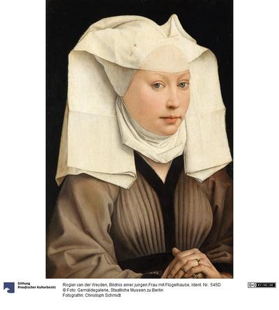Bildnis einer Frau mit Flügelhaube