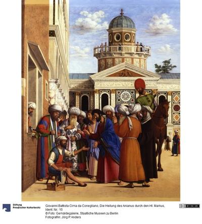 Die Heilung des Anianus durch den Heiligen Markus