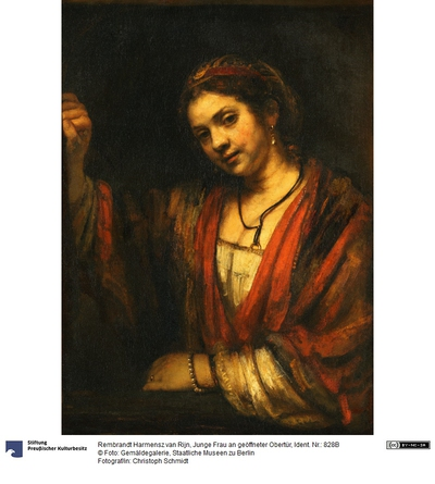 Junge Frau an geöffneter Obertür (Hendrickje Stoffels?)