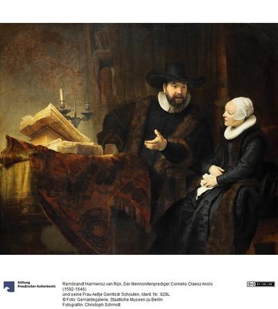 Der Mennoniten Prediger Cornelis Claesz Anslo (1592-1646) und seine Frau Aeltje Gerritse Schouten (1589-1657)