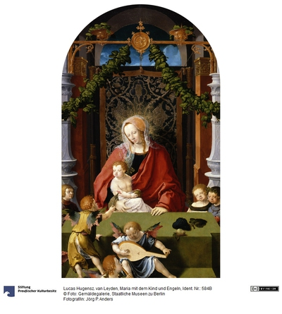 Maria mit dem Kind und Engeln