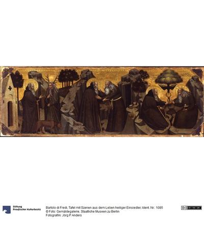 Der hl. Antonius trifft Agathon, die Begegnung von Antonius und Paulus, das Mahl der Einsiedler