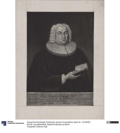 Porträt des Johann Konrad Beck