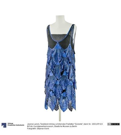 Tanzkleid mit blau schillernden Pailletten Sorrente