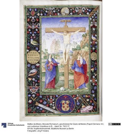 Missale Romanum, geschrieben für Giulio de'Medici (Papst Clemens VII.) von Ludovicus Vicentinus in Rom