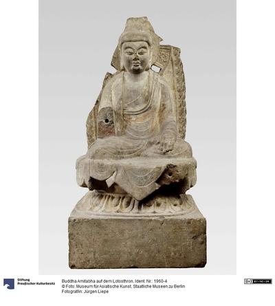 Buddha Amitabha auf dem Lotosthron
