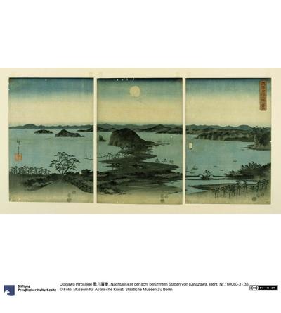 Nachtansicht der acht berühmten Stätten von Kanazawa