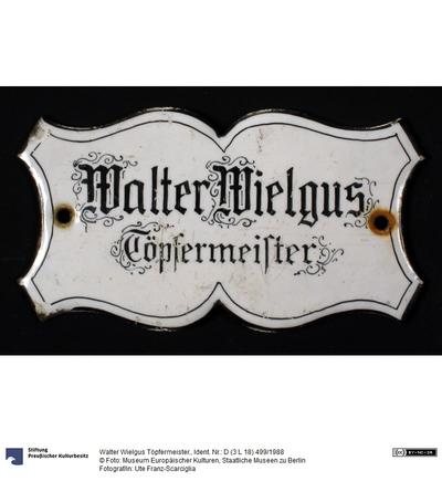 Walter Wielgus Töpfermeister.
