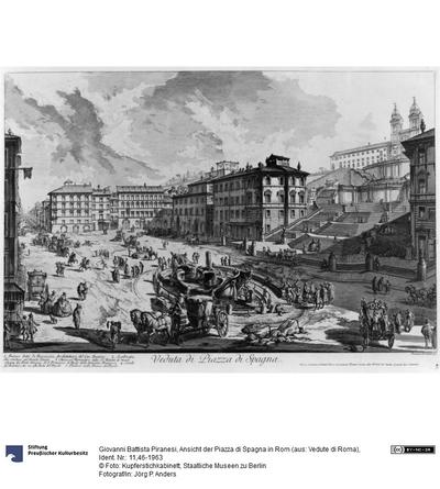 Ansicht der Piazza di Spagna in Rom (aus: Vedute di Roma)