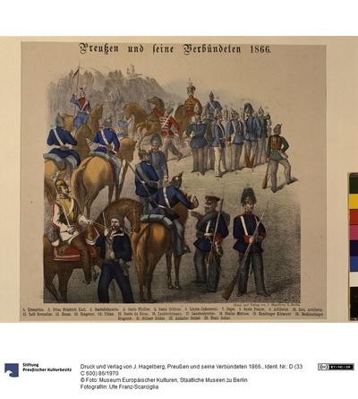 Preußen und seine Verbündeten 1866.