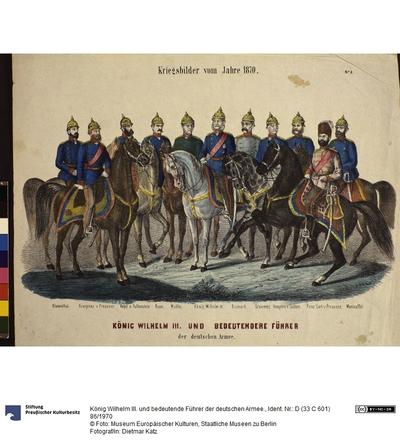 König Wilhelm III. und bedeutende Führer der deutschen Armee.