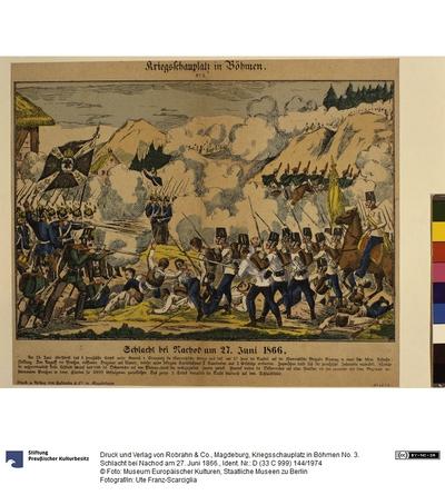Kriegsschauplatz in Böhmen No. 3. Schlacht bei Nachod am 27. Juni 1866.