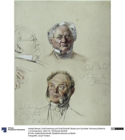 Graf Eulenburg und Graf Dönhoff. Studie zum Gemälde Krönung Wilhelms I. in Königsberg