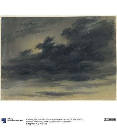 Wolkenstudie bei Mondschein