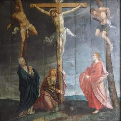 De restauratie van Golgotha: De opstanding van een ontwricht schilderij