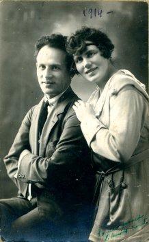 portrét hercov, Simko József a neznáma žena