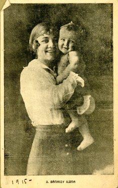 portrét herečky s dieťaťom, Bánhidy Ilona