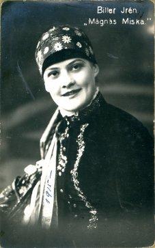 portrét herečky, Irén Biller
