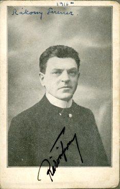 portrét herca, Ferencz Rákony
