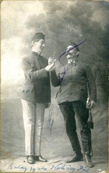 Gyori a Boros, Košice, portrét hercov, Szalay Gyula - Koháry Pál