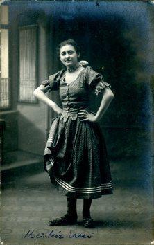 Gyori a Boros, Košice, portrét herečky, Kertész E.