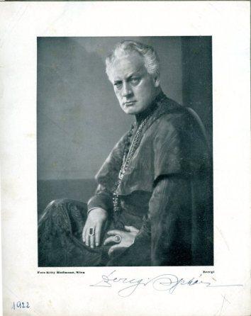 Kitty Hoffmann, Wien, portrét herca, Beregi Oszkár